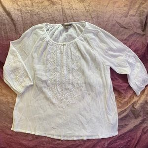 Tommy Bahama Semi Sheer Embellished Blouse